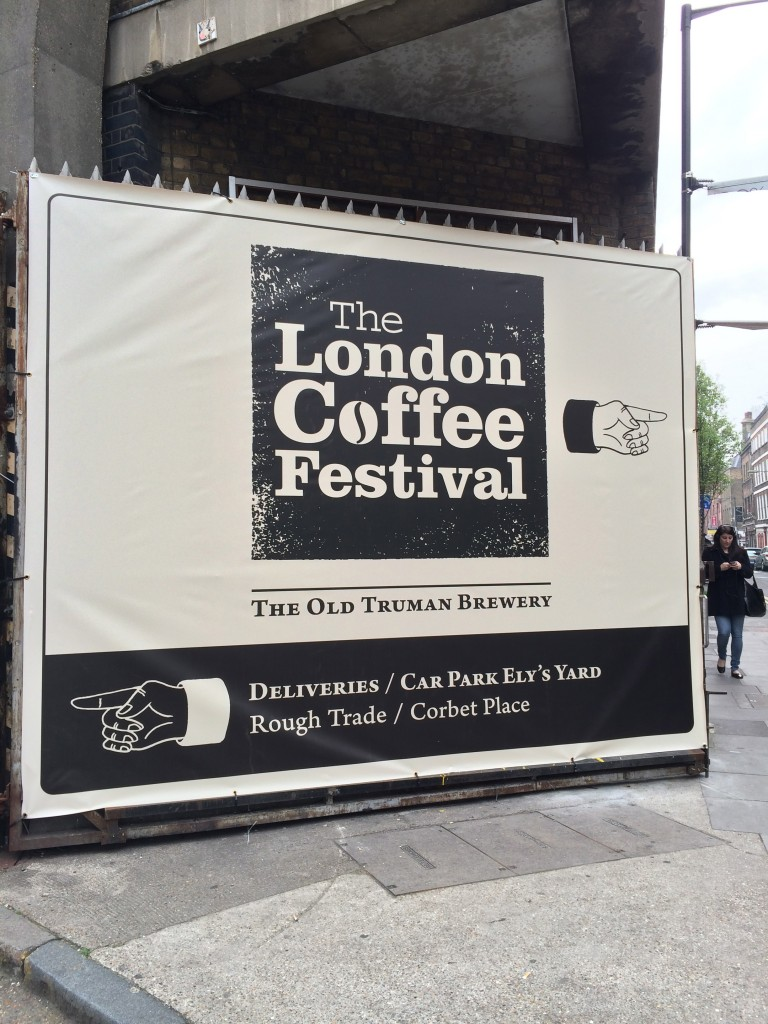 London Coffee Fest sign